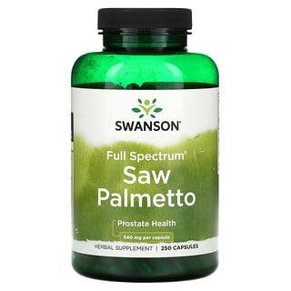 Swanson, Full Spectrum Saw Palmetto, 540 mg, 250 Capsules