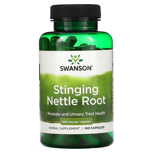 Stinging Nettle Root, 500 mg, 100 Capsules