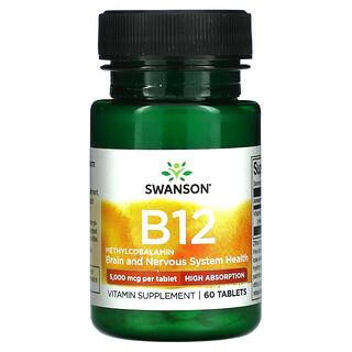 Swanson, B12, 5,000 mcg, 60 Tablets