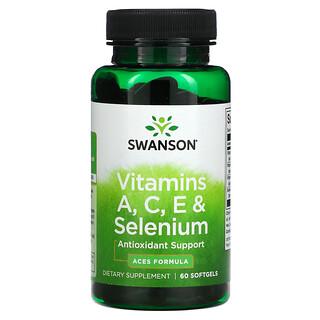 Swanson, Vitamin A, C, E & Selenium, 60 Softgels