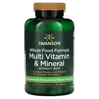 Swanson, Whole Food Formula, Multi Vitamin & Mineral, 90 Tablets