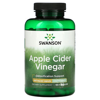 Swanson, Apple Cider Vinegar, 625 mg, 180 Capsules
