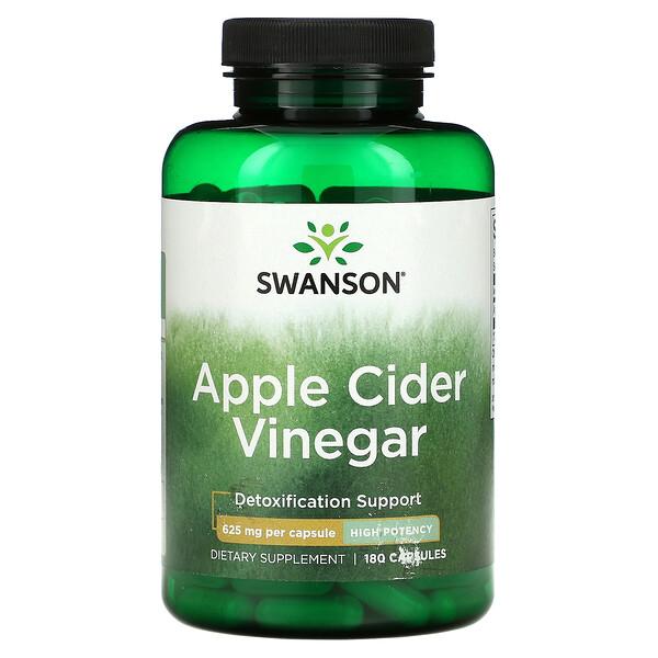 Apple Cider Vinegar, Detoxification Support, 625 mg, 180 Capsules