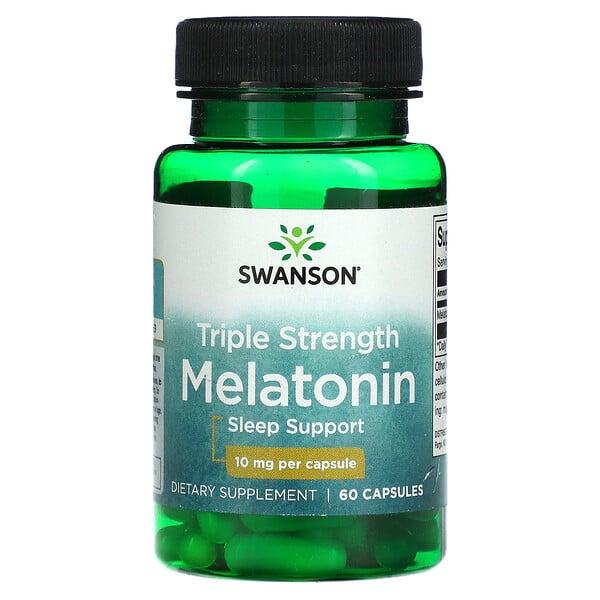 Swanson, Triple Strength Melatonin, 10 mg, 60 Capsules