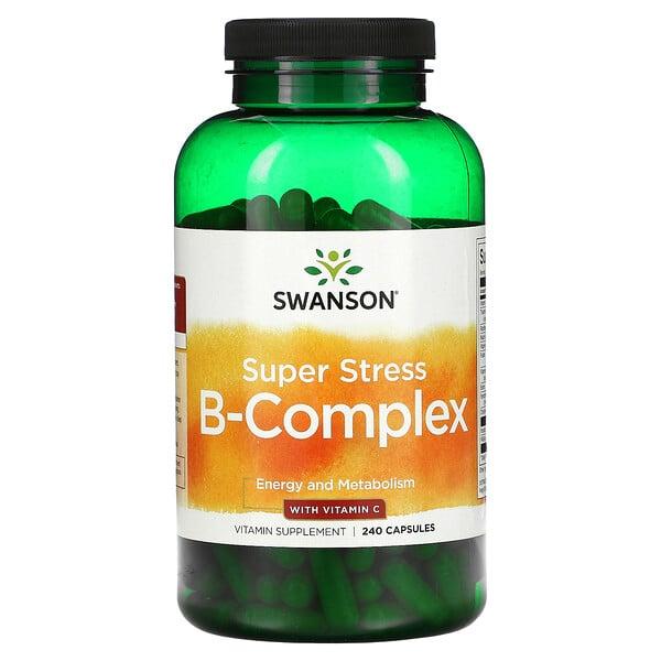 Super Stress B-Complex With Vitamin C, 240 Capsules