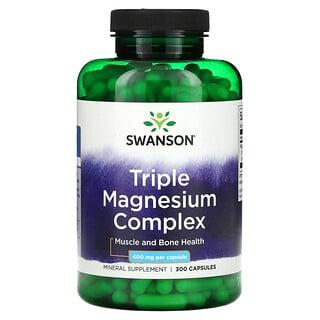 Swanson, Triple Magnesium Complex, 400 mg, 300 Capsules