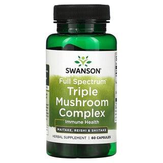 Swanson, Full Spectrum Triple Mushroom Complex, 60 Capsules
