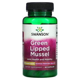 Swanson, Green Lipped Mussel, 500 mg, 60 Capsules