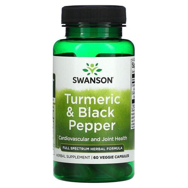Turmeric & Black Pepper, Cardiovascular and Joint Health, 60 Veggie Capsules