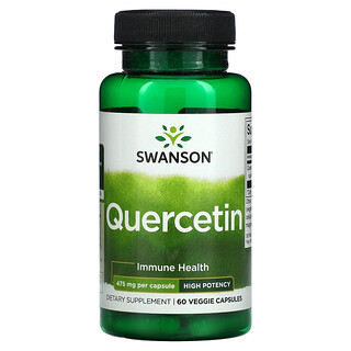 Swanson, Quercetin, 475 mg, 60 Veggie Capsules