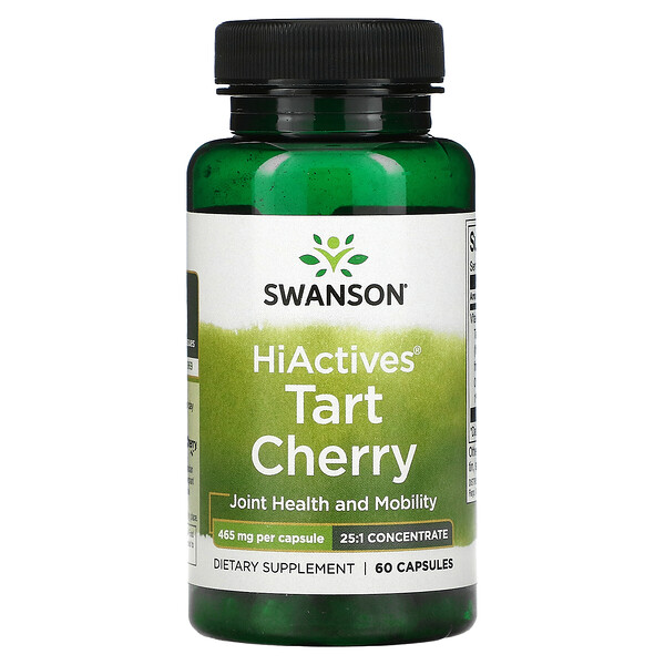HiActives Tart Cherry, 465 mg, 60 Capsules