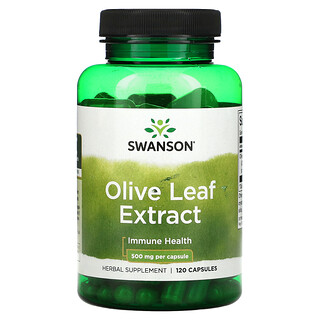 Swanson, Olive Leaf Extract, 500 mg, 120 Capsules