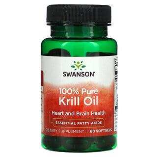 Swanson, 100% Pure Krill Oil, 60 Softgels