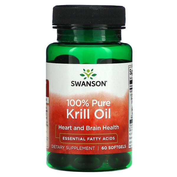 100% Pure Krill Oil, 60 Softgels
