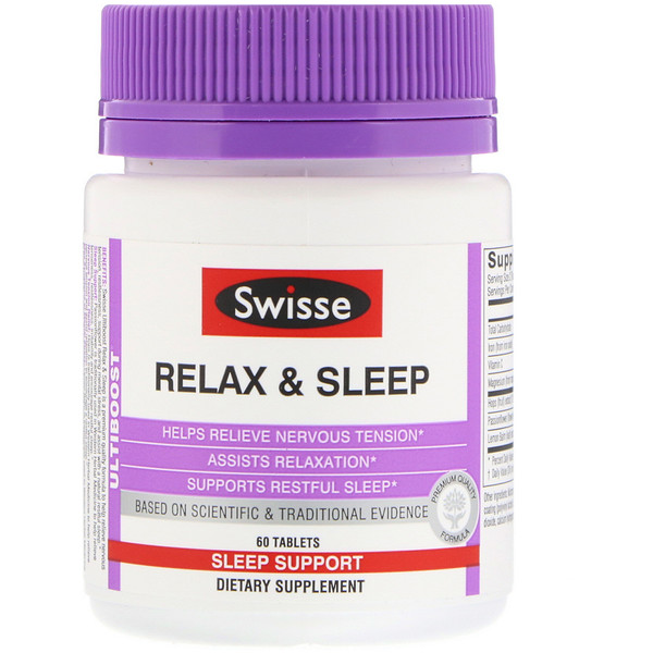 Swisse, Ultiboost, Relax & Sleep, 60 Tablets