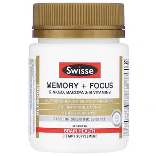 Swisse, Ultiboost, Memory + Focus, 60 Tablets