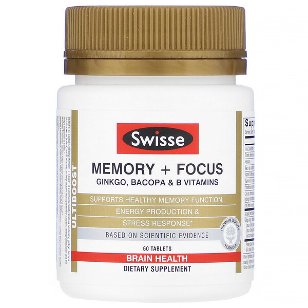 Swisse, Ultiboost, Memory + Focus, 60 Tablets