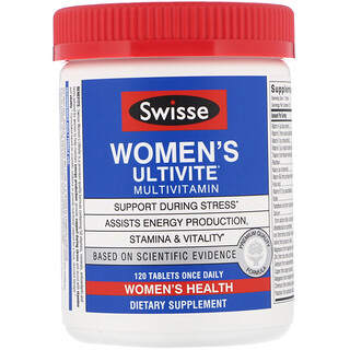 Swisse, Ultivite, мультивитамины для женщин, 120таблеток