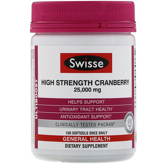 Swisse, Ultiboost, High Strength Cranberry, 25,000 mg, 100 Softgels
