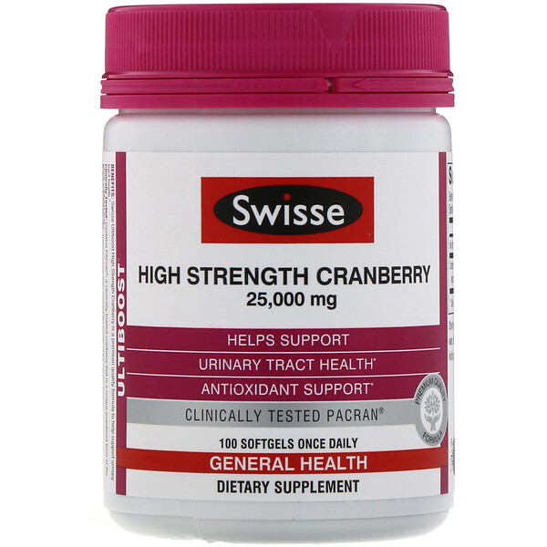 Ultiboost, High Strength Cranberry, 25,000 mg, 100 Capsules