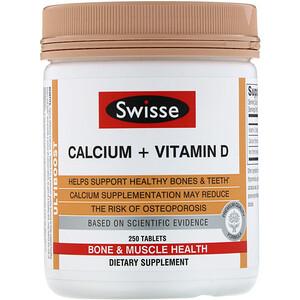 Свисс, Ultiboost, Calcium + Vitamin D, 250 Tablets отзывы покупателей