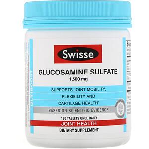Свисс, Ultiboost, Glucosamine Sulfate, 1,500 mg, 180 Tablets отзывы покупателей