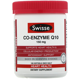Swisse, Ultiboost, Co-Enzyme Q10, 150 mg, 180 Softgels