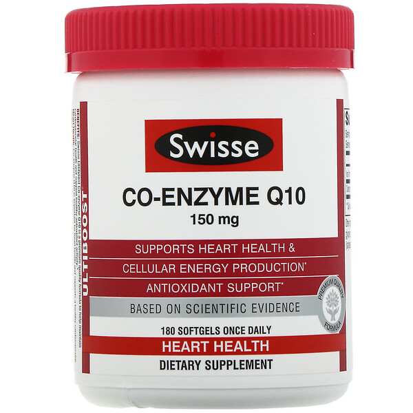Swisse, Ultiboost, Co-Enzyme Q10, 150 mg, 180 Softgels