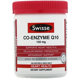 Свисс, Ultiboost, Co-Enzyme Q10, 150 mg, 180 Softgels отзывы