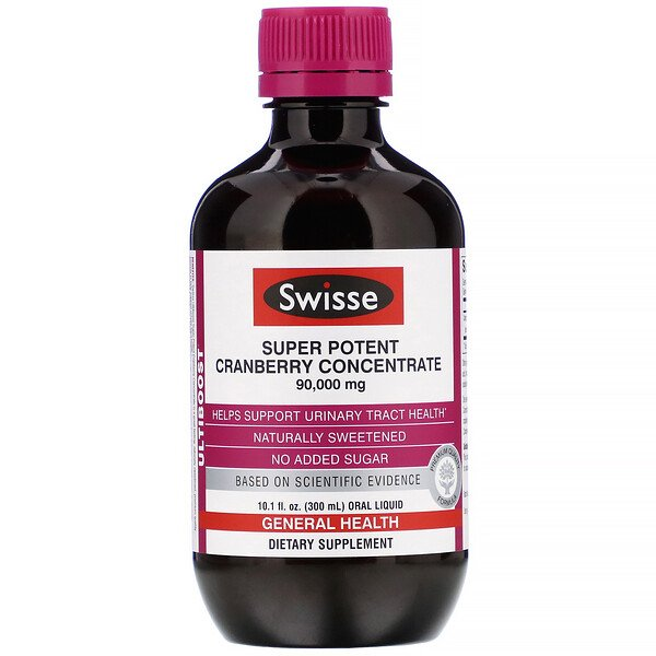 Swisse, Ultiboost, Super Potent Cranberry Concentrate, 90,000 mg, 10.1 fl oz (300 ml)