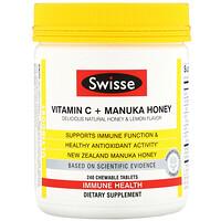 Ultiboost, Vitamin C + Manuka Honey, Delicious Natural Honey & Lemon Flavor, 240 Chewable Tablets - фото