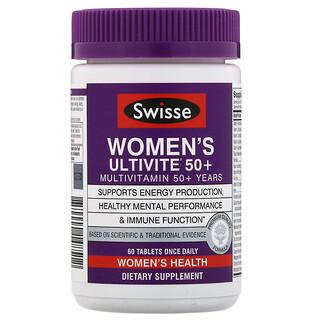 Swisse, 女性用Ultivite(アルティバイト)50+マルチビタミン、60粒