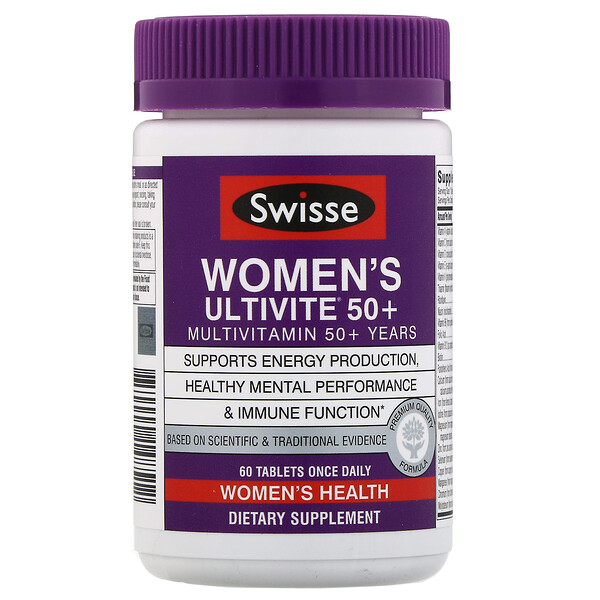 Swisse, Women's Ultivite 50+ Multivitamin, 60 Tablets