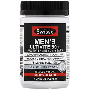 Свисс, Men's Ultivite 50+ Multivitamin, 60 Tablets отзывы покупателей