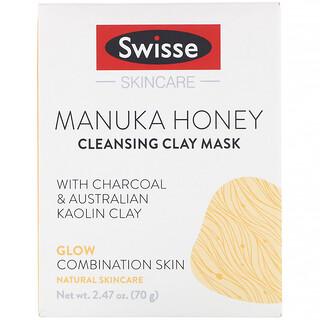 Swisse, Skincare, Manuka Honey Cleansing Clay Mask, 2.47 oz (70 g)