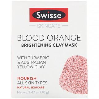 Swisse, Cuidado de la piel, Naranja sanguínea, Mascarilla de arcilla iluminadora, 70g (2,47oz)