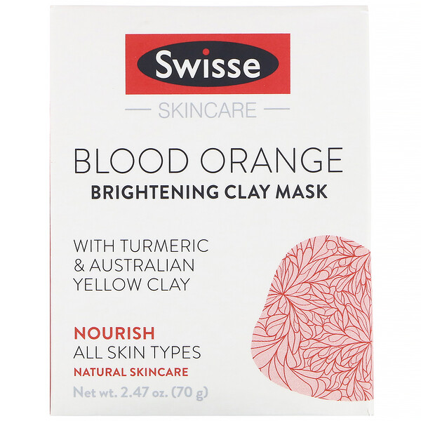 Swisse, Skincare, Blood Orange Brightening Clay Mask, 2.47 oz (70 g)