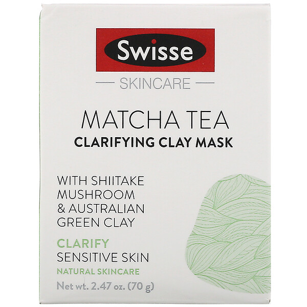 Swisse, Skincare, Matcha Tea Clarifying Clay Mask, 2.47 oz (70 g)