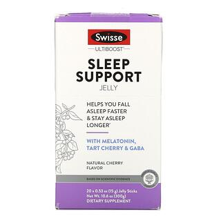Swisse, Ultiboost, Sleep Support Jelly, Natural Cherry Flavor, 20 Jelly Sticks, 0.53 oz (15 g) Each