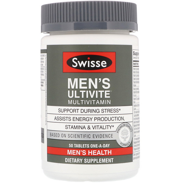 Swisse, Men's Ultivite Multivitamin, 50 Tablets
