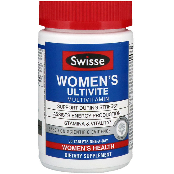 Swisse, Women's Ultivite Daily Multivitamin, 50 Tablets