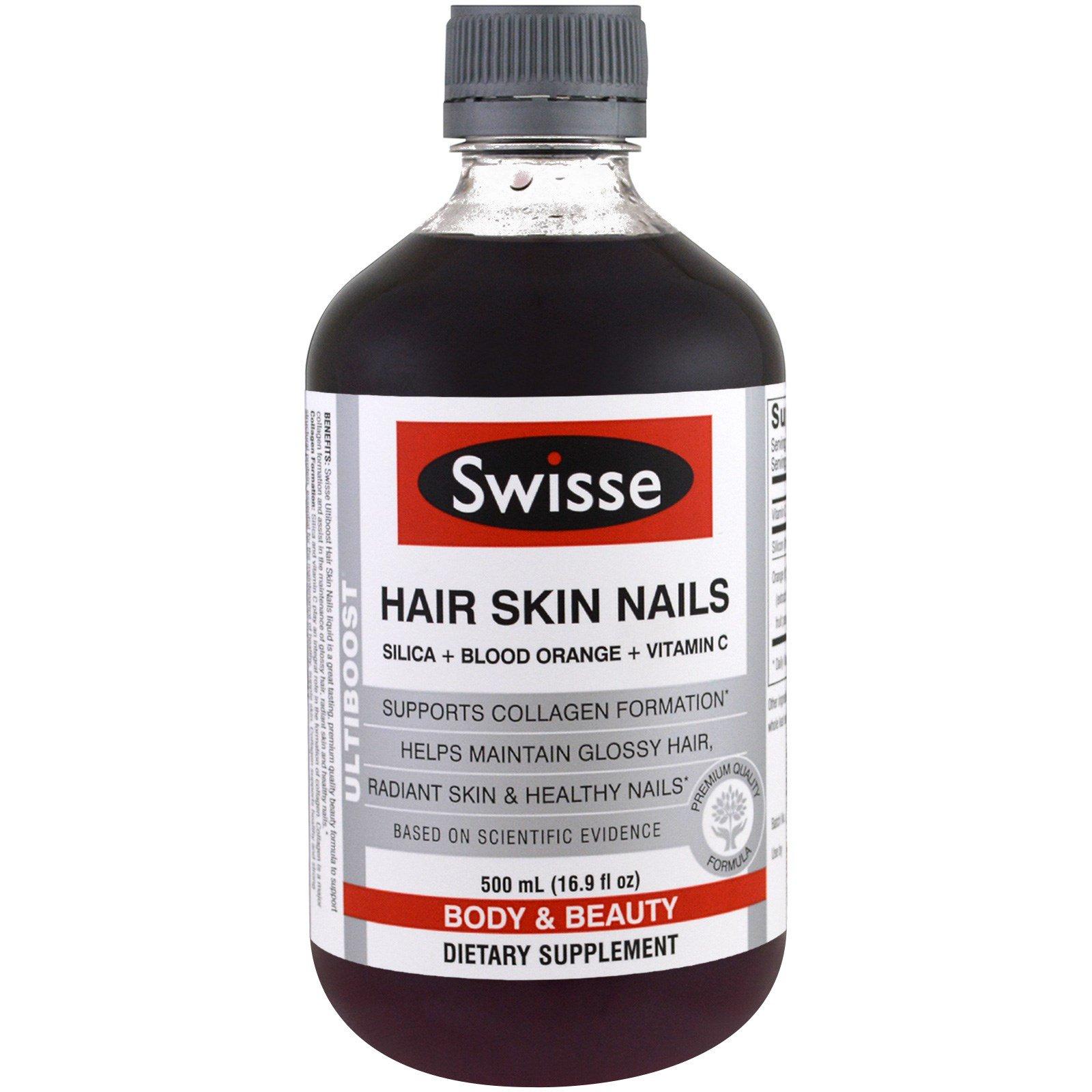 Swisse, Ultiboost, волосы, кожа, ногти (диоксид кремния + апельсин-королек + витамин C), 16,9 унции (500 мл)