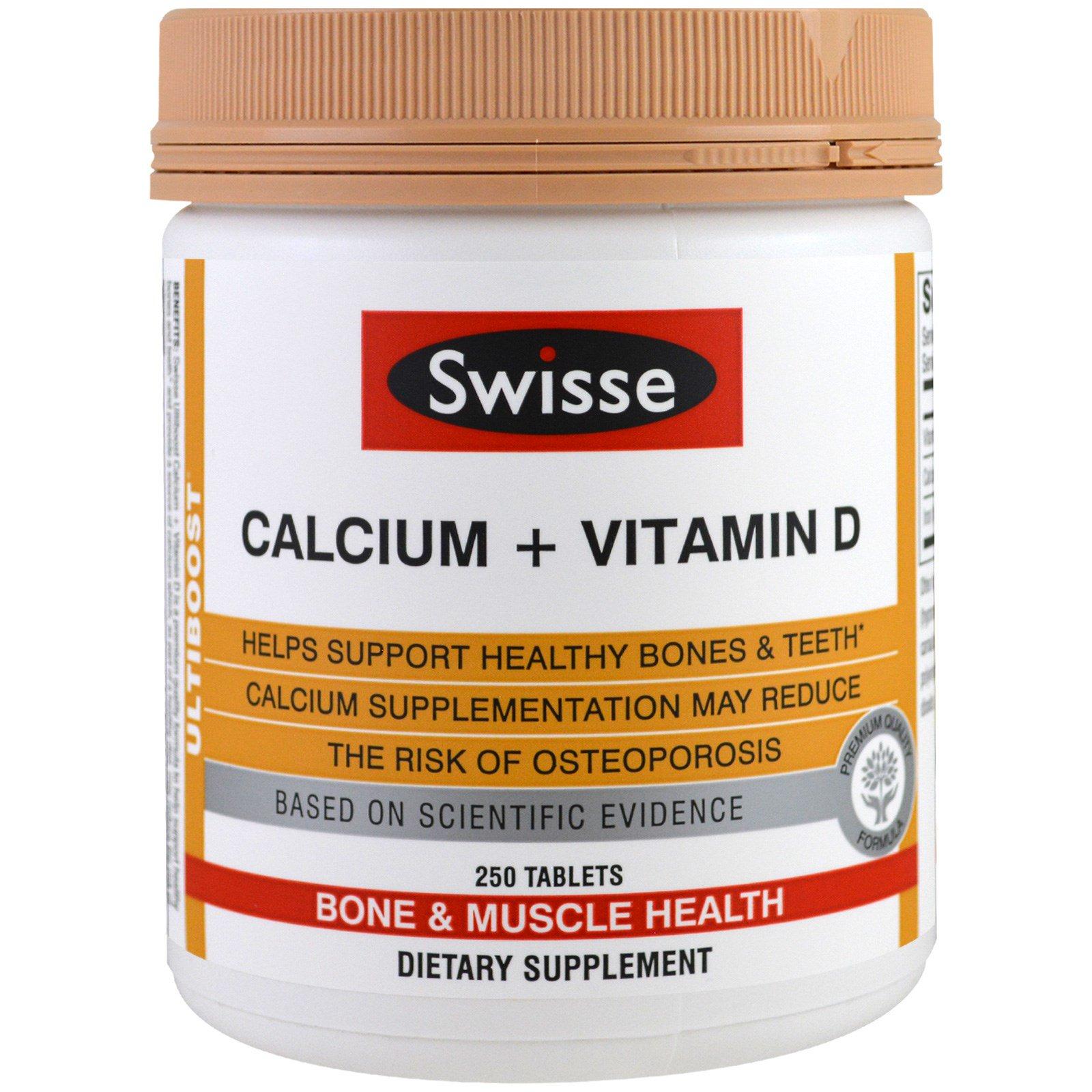 Swisse, Кальций + Витамин D , 250 таблеток