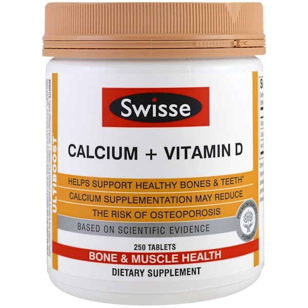 Swisse, Ultiboost, Calcium + Vitamin D, 250 Tablets (Discontinued Item)