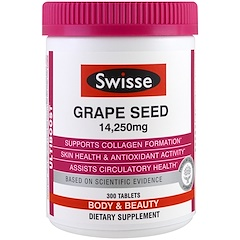 Swisse, Ultiboost, Grape Seed, Body & Beauty, 14,250 mg, 300 Tablets