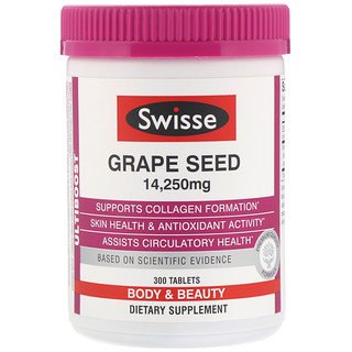 Swisse, Ultiboost, Grape Seed, 14,250 mg, 300 Tablets