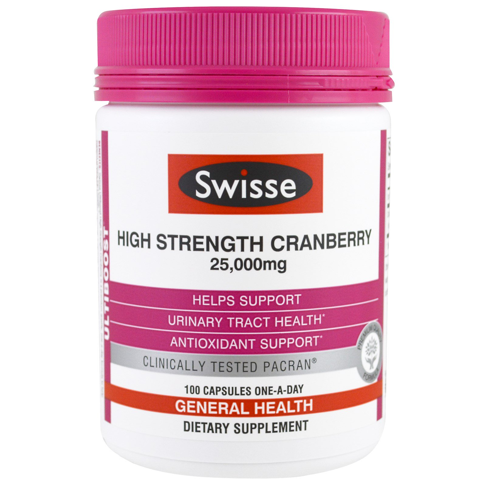 Swisse, Ultiboost, High Strength Cranberry, 25,000 mg, 100 Capsules