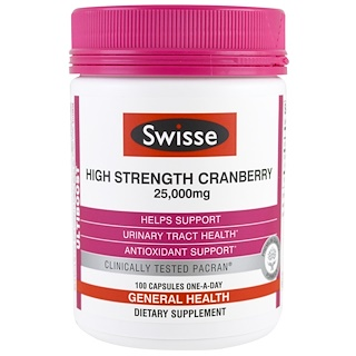 Swisse, Ultiboost, High Strength Cranberry, 25,000 mg, 100 Kapseln