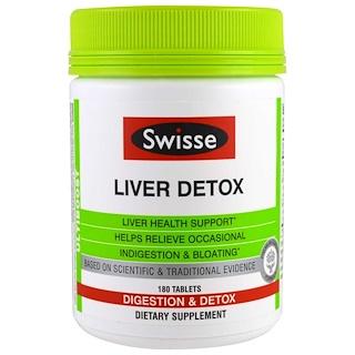 Swisse, アルティブースト, 肝臓の解毒, 消化 & 解毒, 180錠