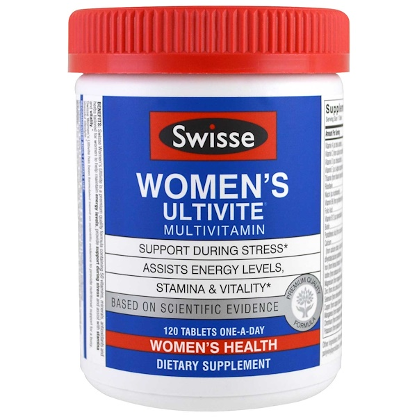 Swisse, Women's Ultivite فيتامينات متعددة, 120 قرص (Discontinued Item)
